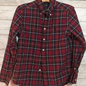 Boys red plaid Ralph Lauren Polo button down